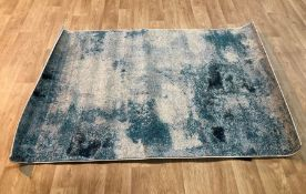 DENZEL POWER LOOM CREAM/BLUE RUG / SIZE: 122 X 183CM BY WORLD MENAGERIE