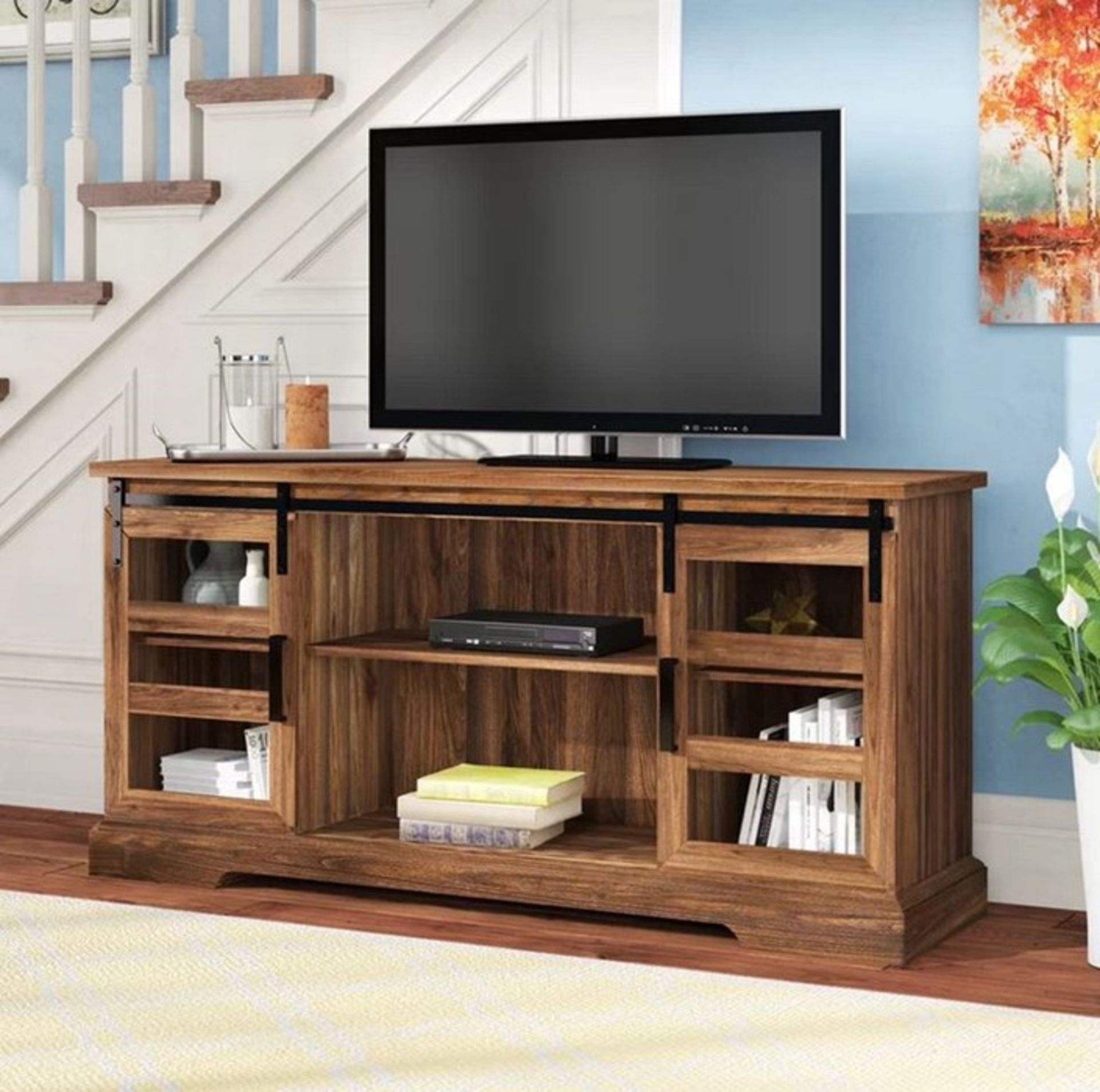 """HISAKO TV STAND FOR TVS UP TO 65"""" / COLOUR: DARK WALNUT"""