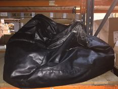1 LOT TO CONTAIN A LEATHER BEAN BAG, SOME MARKS WHICH CAN BE CLEANED OFF