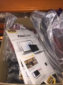 1 LOT TO CONTAIN AN ASSORTMENT OF OFFICE SUPPLIES, ITEMS TO INCLUDE : TARGUS LAPTOP BAGS, FELLOWES