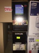 1 LOT TO CONTAIN 2 X LEXMARK 12A8044 EXTRA HIGH YIELD PRINT CARTRIDGES FOR T632, T634 AND X632