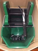 1 LOT TO CONTAIN A WHEELED MOP BUCKET IN GREEN L-8