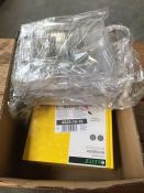 1 LOT TO CONTAIN 6 X LEITZ A4 NOTEBOOKS AND A QUANTITY OF CARD HOLDER STANDS L-8