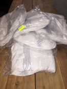 1 LOT TO CONTAIN 5 X BAGS OF MEDIUM FLOOR CLOTHS, EACH BAG CONTAINS 10 CLOTHS, 50 CLOTHS IN TOTAL