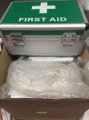 1 LOT TO CONTAIN 3 X FIRST AID CRATES WITH CARRY STRAPS L-8