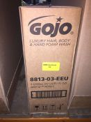 1 LOT TO CONTAIN A BOX OF GOJO LUXURY HAIR, BODY AND HAND FOAM WASH, 3 X 1250ML REFILLS L-8