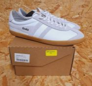 GOLA MENS SPECIALIST LEATHER SNEAKERS - UK SIZE 10/WHITE