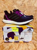 ADIDAS LADIES ULTRA BOOST W TRAINERS - UK SIZE 4/PURPLE