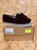 HEAVENLY SOLES LADIES ESPADRILLES - UK SIZE 4/BLACK