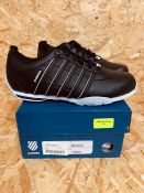 K-SWISS MENS ARVEE 1.5 LEATHER TRAINERS - UK SIZE 7/BLACK