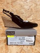 VAN DAL LADIES BLACK PATENT WEDGE - UK SIZE 7/BLACK