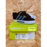 ADIDAS DAILY TEAM INFANTS TRAINER - UK SIZE 5K/BLUE/BLACK