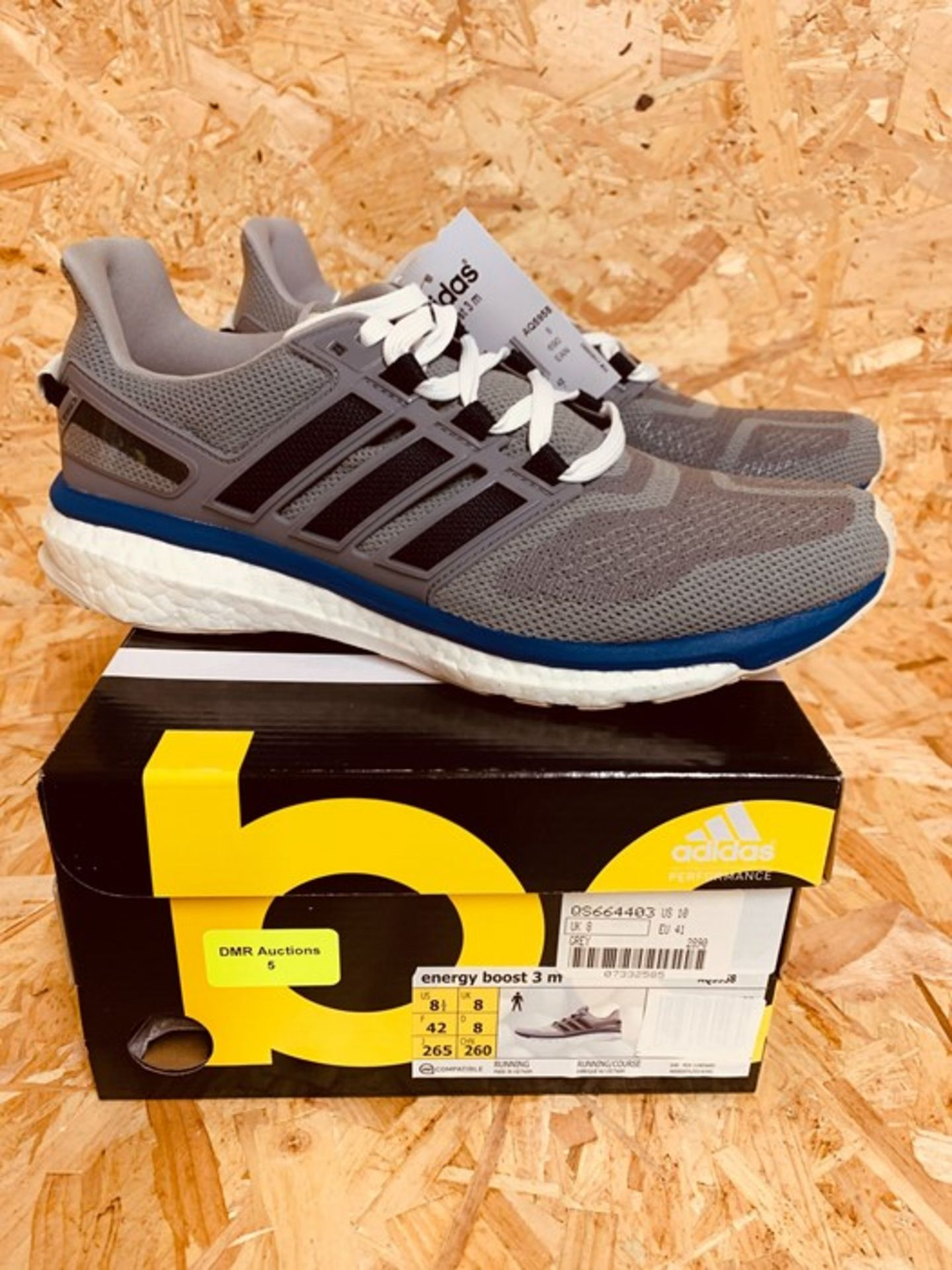 ADIDAS WOMENS ENERGY BOOST 3 M TRAINERS - UK SIZE 8/GREY