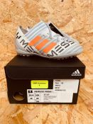 ADIDAS NENEZIZ MESSI TANGO 17.3 T JUNIOR BOYS FOOTBALL BOOTS - UK SIZE 10K/WHITE