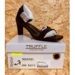 TRUFFLE COLLECTION LADIES SLIM HEEL - UK SIZE 3/BLACK
