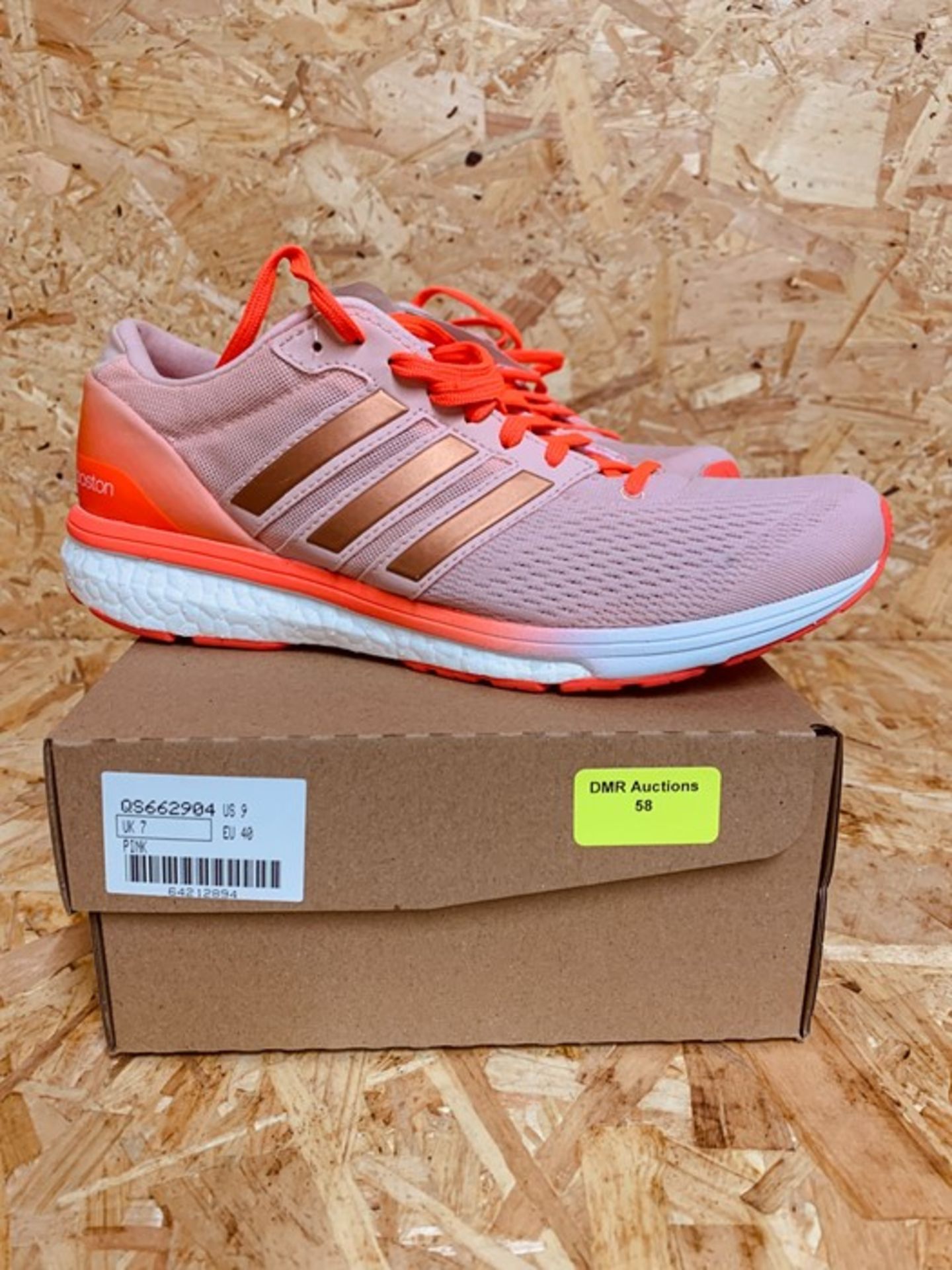ADIDAS WOMENS ADIZERO BOSTON 6 W - UK SIZE 7/PINK