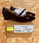 LADIES BLACK PATENT SHOES - UK SIZE 5/BLACK