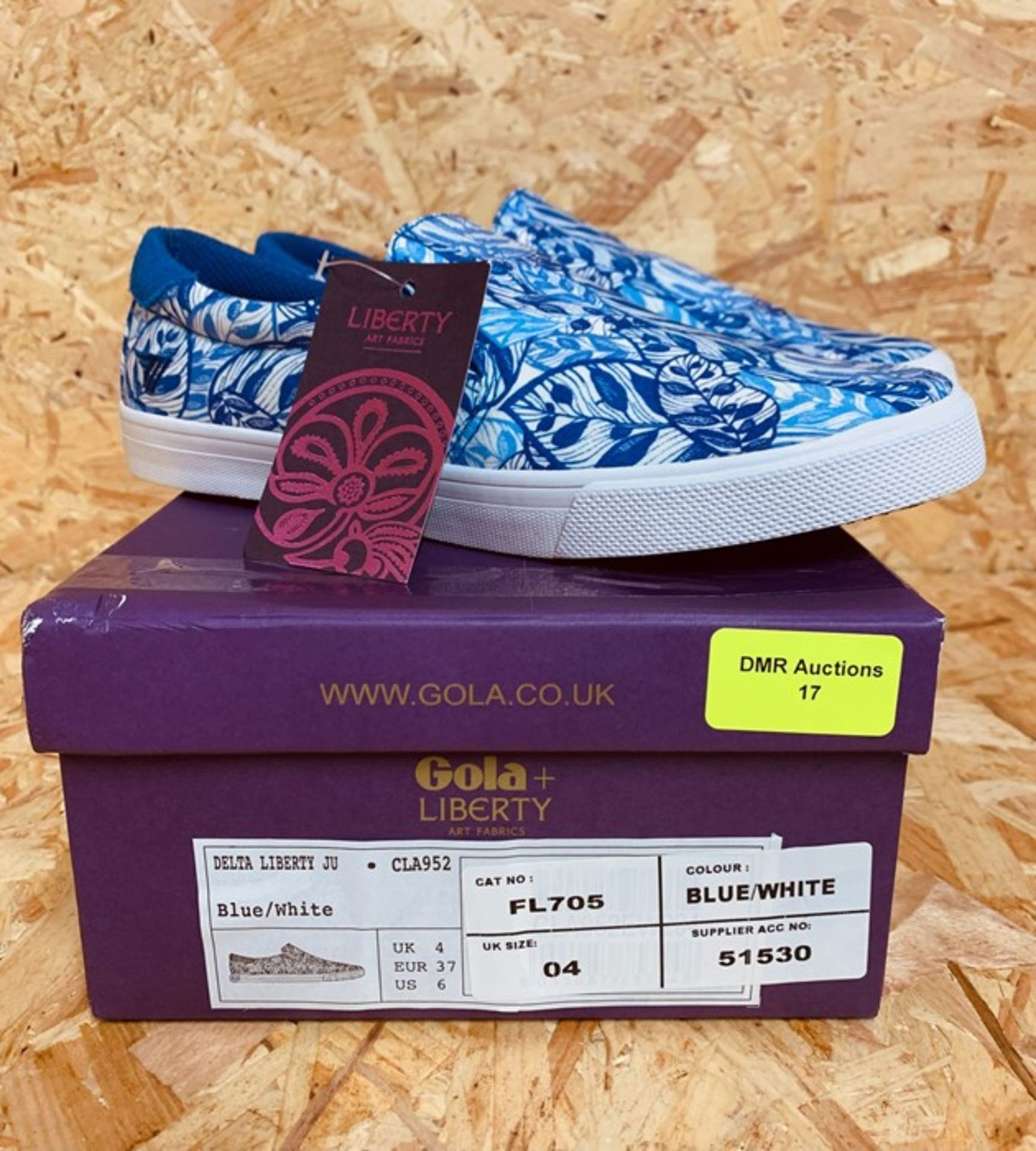 GOLA LADIES CLA952 DELTA LIBERTY SNEAKERS - UK SIZE 4/BLUE/WHITE