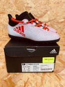 ADIDAS X TANGO 17.3 TF JUNIOR BOYS BOOTS - UK SIZE 11K/WHITE RED