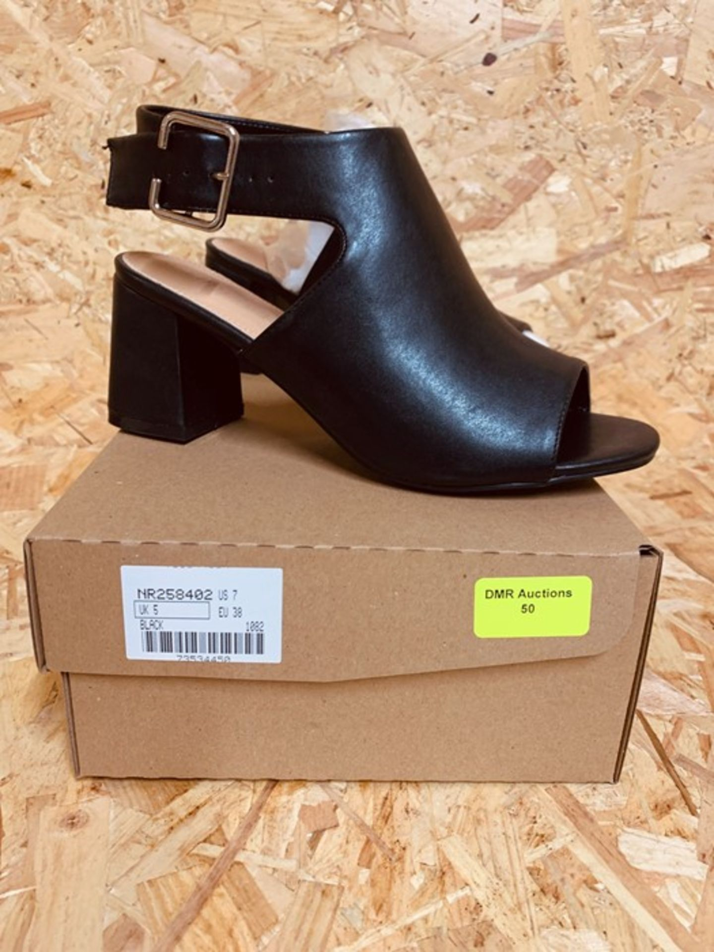 SIMPLY BE DARCY LADIES EXTRA WIDE SANDAL - UK SIZE 5/BLACK