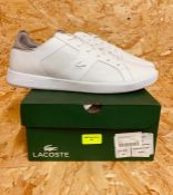 LACOSTE MENS NOVAS 319 TRAINERS - UK SIZE 16/WHITE