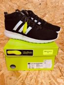 ADIDAS LADIES CF LITE RACER MID TRAINER - UK SIZE 6/BLACK/WHITE