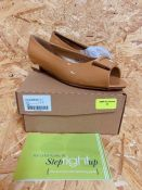 FOOTFLEX BY LOTUS LADIES PATENT SHOES - UK SIZE 6/CAMEL