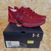 UNDER ARMOUR CHARGED COOLSWITCH RUN MENS TRAINERS - UK SIZE 9/RED