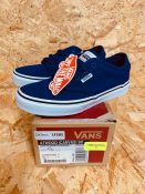 VANS CHILDRENS ATWOOD CANVAS TRAINERS - UK SIZE J2/BLUE