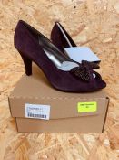 LOTUS LADIES LEATHER HEELS - UK SIZE 5/PURPLE