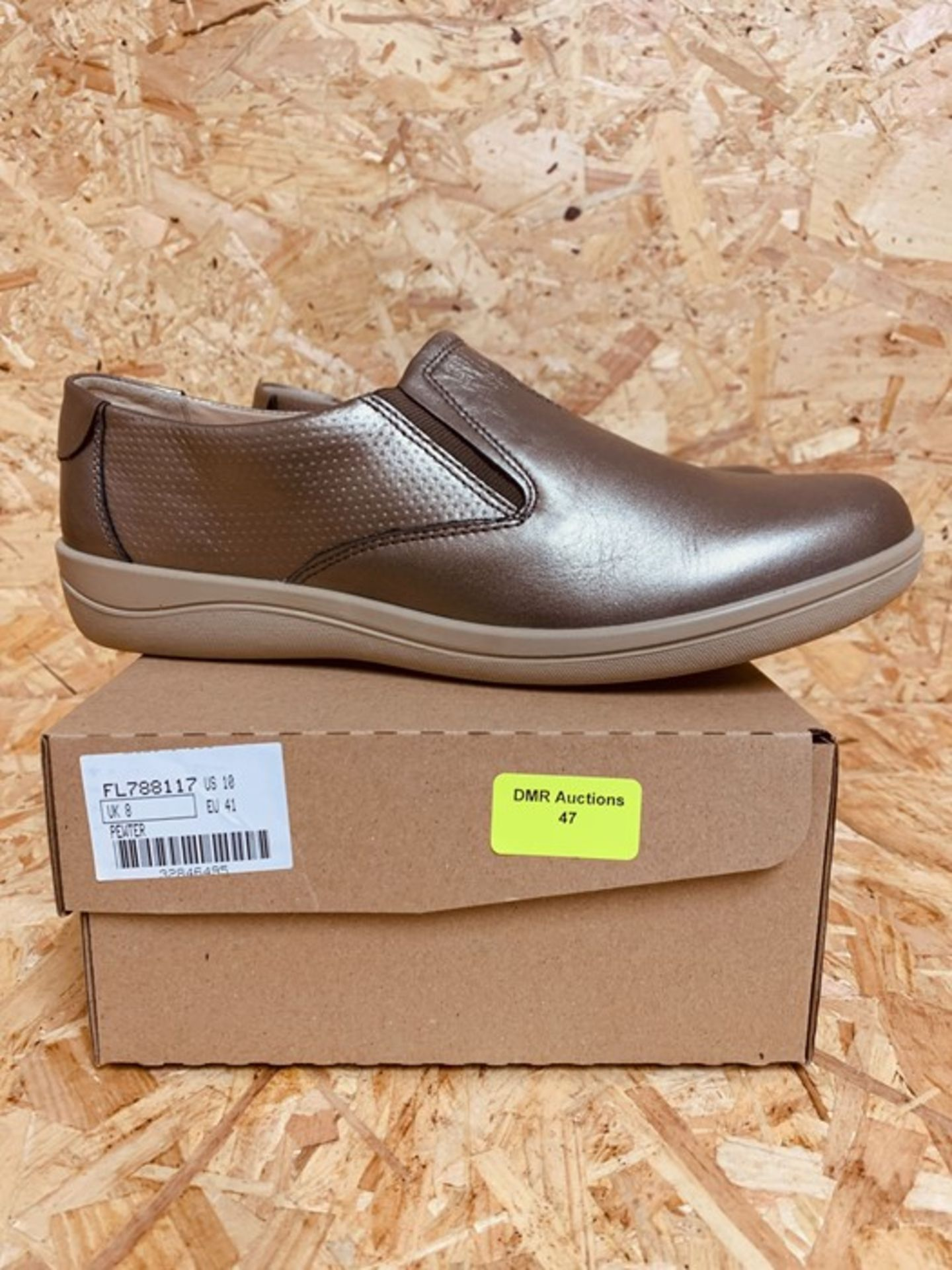 PADDERS LADIES EXTRA WIDE FITTING SHOES - UK SIZE 8/PEWTER