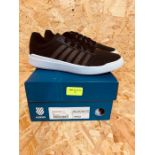 K-SWISS MENS HERITAGE LIGHT T SNEAKER - UK SIZE 6/BLACK/WHITE