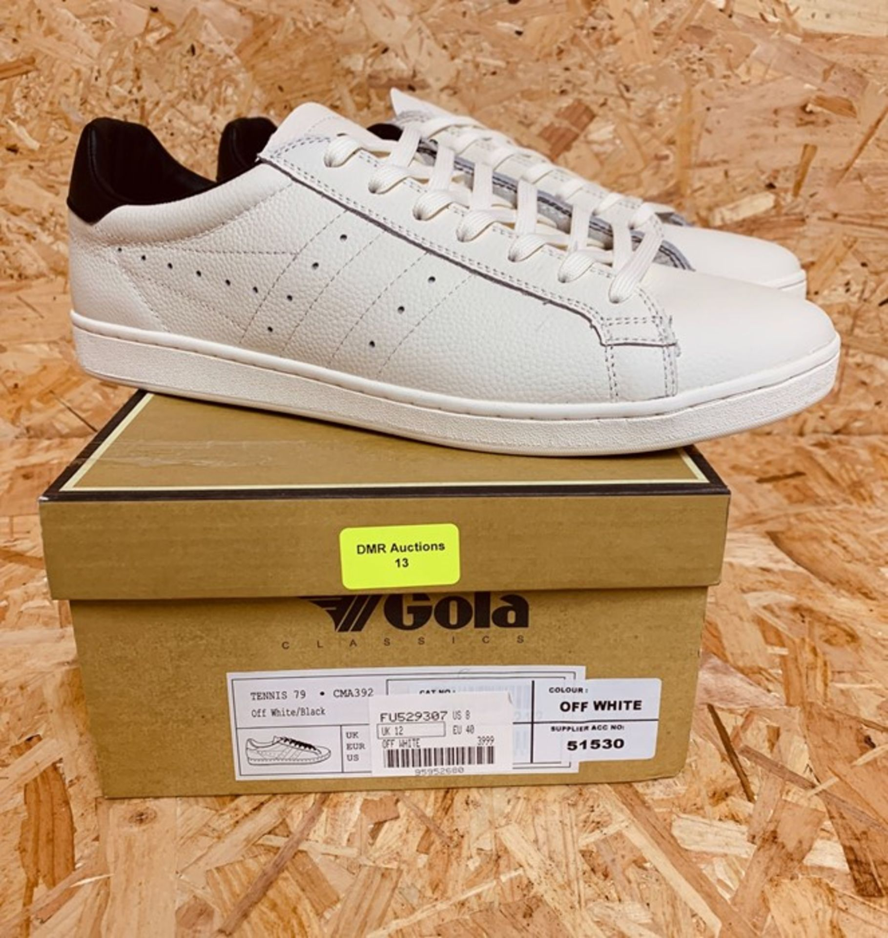 GOLA MENS TENNIS 79 TRAINERS - UK SIZE 12/OFF WHITE