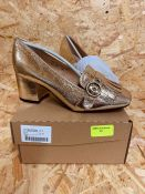 HEAVENLY SOLES LADIES SHOES - UK SIZE 4/GOLD