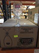 1 LOT TO CONTAIN A BOX OF 24 X STELLA ARTOIS CHALICE GLASSES 20OZ