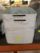 1 LOT TO CONTAIN 6 X LEITZ MYBOX STORAGE BOXES IN WHITE - L8