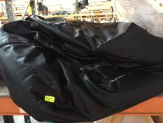 1 LOT TO CONTAIN A BLACK LEATHER BEAN BAG, NEEDS A CLEAN