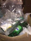1 LOT TO CONTAIN AN ASSORTMENT OF OFFICE SUPPLIES, ITEMS TO INCLUDE : VARIOUS CLEANING CHEMICALS -