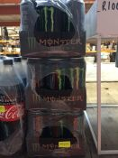 1 LOT TO CONTAIN 3 X 12 PACKS OF MONSTER ENERGY ORIGINAL 500ML CANS BB DEC 2020 - L7