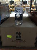 1 LOT TO CONTAIN A BOX OF 24 X CORONA 200OZ NON STACKABLE GLASSES