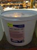 1 LOT TO CONTAIN A 10KG TUB OF ZENITH TANNIN REMOVER