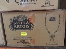 1 LOT TO CONTAIN A BOX OF 12 X STELLA ARTOIS CHALICE GLASSES 20OZ