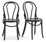 LA REDOUTE SET OF 2 BISTRO STYLE CHAIRS
