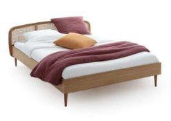 LA REDOUTE BUISSEAU OAK/CANE BED / SIZE: DOUBLE (140 X 190CM)