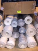1 LOT TO CONTAIN A BOX OF ASSORTED WALLPAPER, THERE ARE 12 ROLLS IN THIS LOT, CONDITIONS VARY