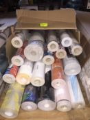 1 LOT TO CONTAIN A BOX OF ASSORTED WALLPAPER, THERE ARE 18 ROLLS IN THIS LOT, CONDITIONS VARY