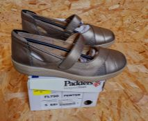 PADDERS LADIES EXTRA WIDE FITTING SHOES - UK SIZE 5/PEWTER