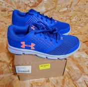 UNDER ARMOUR MICRO G RAVE GIRLS TRAINERS - UK SIZE J5/PURPLE