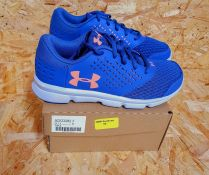 UNDER ARMOUR MICRO G RAVE GIRL TRAINERS - UK SIZE J4/PURPLE