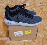 UNDER ARMOUR RIPPLE WOMENS TRAINERS - UK SIZE 4/BLACK